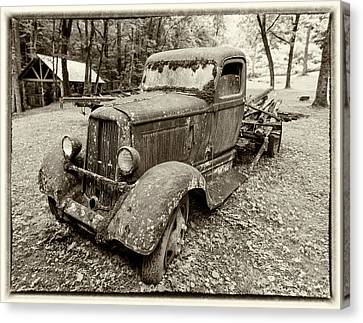 Dreaming Of Days Past - Vintage Dodge Truck Canvas Print