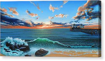 Dreaming Of Malibu Beach Canvas Print