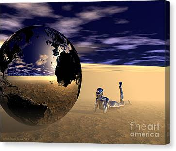 Dreaming Of Other Worlds Canvas Print