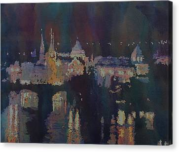 Charles River Canvas Print - Dreaming Of Prague by Jenny Armitage