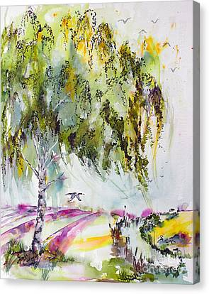 Canvas Print featuring the painting Dreaming Of Provence by Ginette Callaway
