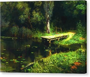Dreaming Of Secret Places Canvas Print by Georgiana Romanovna