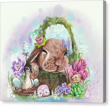 Canvas Print featuring the mixed media Dreaming Of Spring - Dreaming Of Collection  by Sheena Pike