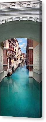 Hotel-room Canvas Print - Dreaming Of Venice Vertical Panorama by Az Jackson