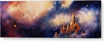 Canvas Print featuring the painting Dreaming Sedona by Marina Petro
