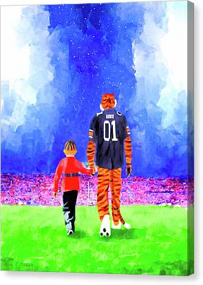Jordan Canvas Print - Dreaming Under The Lights In Auburn by Mark Tisdale