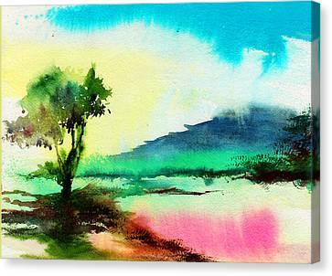 Bob Ross Canvas Print - Dreamland by Anil Nene