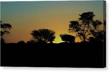 Dreams Of Namibian Sunsets Canvas Print by Ernie Echols