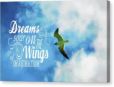 Canvas Print featuring the photograph Dreams On Wings by Jan Amiss Photography