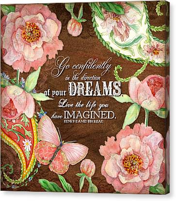 Dreams - Thoreau Canvas Print by Audrey Jeanne Roberts