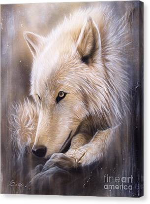 Dreamscape - Wolf Canvas Print by Sandi Baker