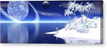 Canvas Print featuring the digital art Dreamscape by Claude McCoy