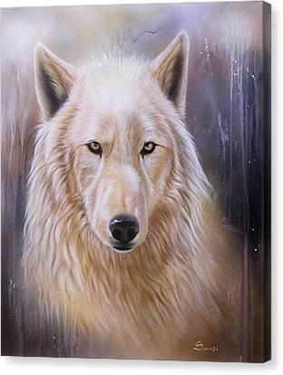 Dreamscape Wolf IIi Canvas Print by Sandi Baker