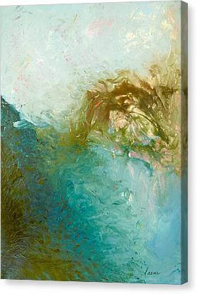 Canvas Print featuring the painting Dreamstime 3 by Irene Hurdle