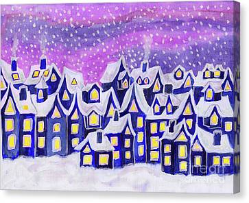 Dreamstown Blue, Painting Canvas Print
