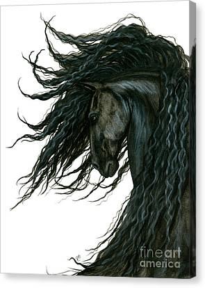 Dreamwalker Friesian Horse Canvas Print by AmyLyn Bihrle