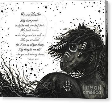 Dreamwalker Horse Poem #53 Canvas Print by AmyLyn Bihrle
