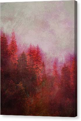Canvas Print featuring the digital art Dreamy Autumn Forest by Klara Acel