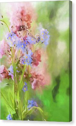 Dreamy Bouquet Canvas Print by Bonnie Bruno
