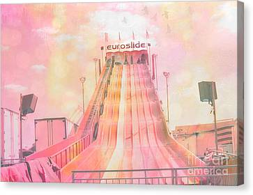 Dreamy Carnival Rides Festival Art - Euroslide Canvas Print by Kathy Fornal