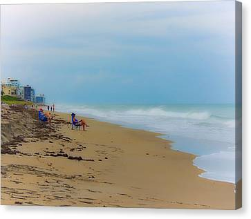 Dreamy Day On The Beach Canvas Print by Marilyn Holkham