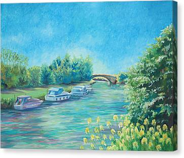 Canvas Print featuring the painting Dreamy Days by Elizabeth Lock