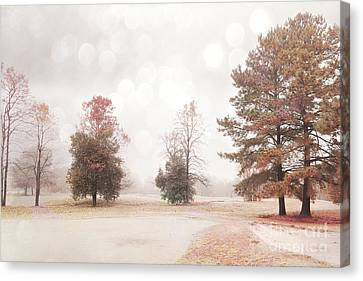 Nature Scene Canvas Print - Dreamy Ethereal Serene Peaceful Nature Trees Landscape by Kathy Fornal