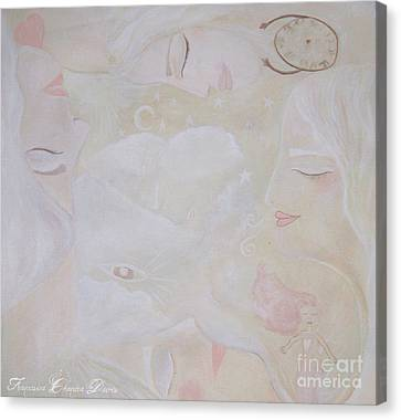 Dreamy Goddess Canvas Print by Sacred  Muse