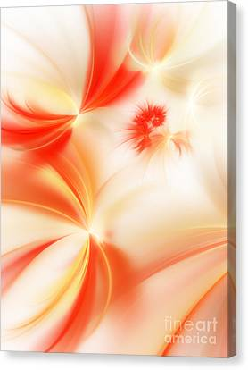 Dreamy Orange And Creamy Abstract Canvas Print by Andee Design