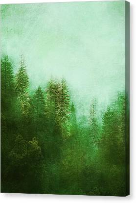 Canvas Print featuring the digital art Dreamy Spring Forest by Klara Acel