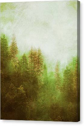 Canvas Print featuring the digital art Dreamy Summer Forest by Klara Acel