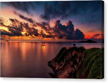 China Cove Canvas Print - Dreamy Sunset by Caroyuen