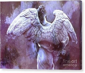 Dreamy Angel Ethereal Purple Angel Wings - Purple Angel Photography Wings Canvas Print