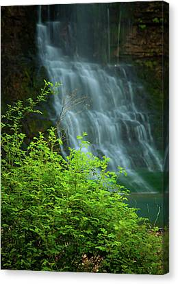 Dreamy Waterfalls Canvas Print by Iris Greenwell