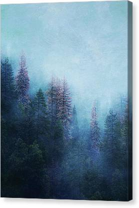 Canvas Print featuring the digital art Dreamy Winter Forest by Klara Acel