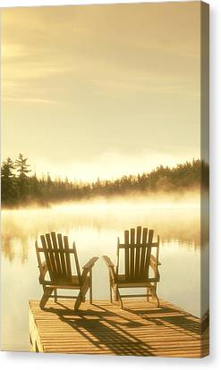 D.reede Chairs On Dock, Whiteshell Pp Canvas Print