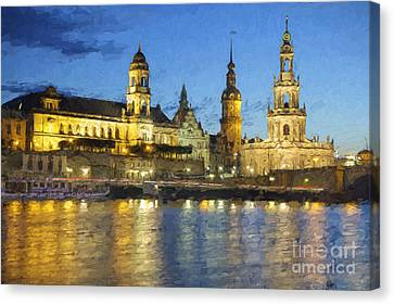 Dresden Altstadt Canvas Print by Julie Woodhouse