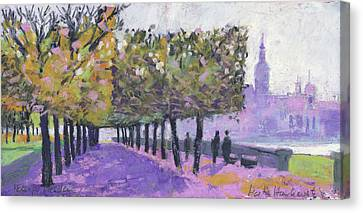 Dresden Elbufer, On The Banks Of The River Elbe Canvas Print by Martin Stankewitz