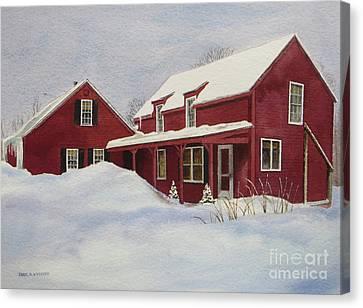 Dresden Farmhouse Canvas Print by Karol Wyckoff