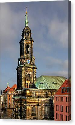Dresden Kreuzkirche - Church Of The Holy Cross Canvas Print