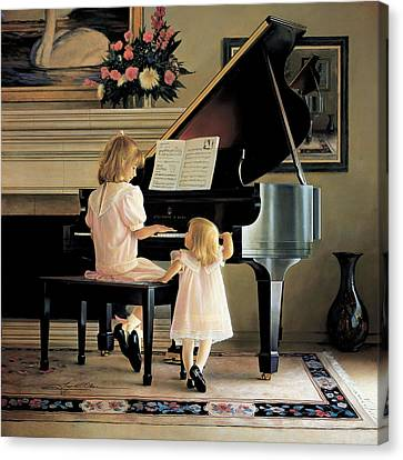 Blonde Canvas Print - Dress Rehearsal by Greg Olsen