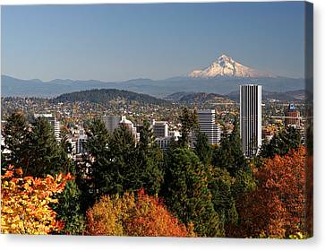Dressed In Fall Colors Canvas Print