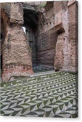 Caracalla Canvas Print - Dressing Room In Baths Of Caracalla In Ancient Rome, Italy by Frank Bach