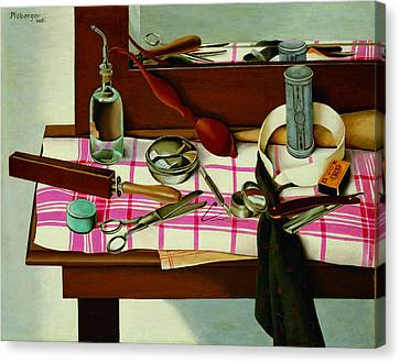 Dressing Table Canvas Print by Herbert Ploberger