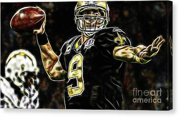 Drew Brees Collection Canvas Print by Marvin Blaine