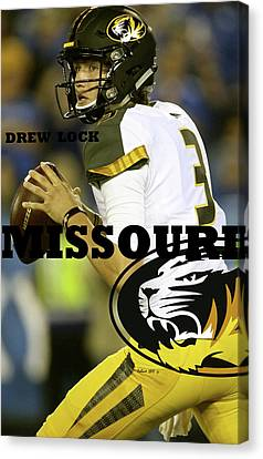 Tebow Canvas Print - Drew Lock, University Of Missouri, Tigers, Sec by Thomas Pollart