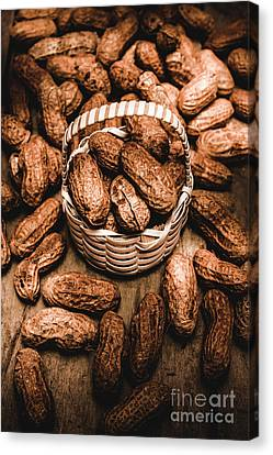 Pods Canvas Print - Dried Whole Peanuts In Their Seedpods by Jorgo Photography - Wall Art Gallery