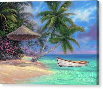 Rowboat Canvas Print - Drift Away by Chuck Pinson