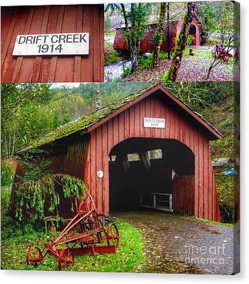 Drift Creek Covered Bridge Canvas Print