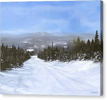 Canvas Print featuring the painting Drifter by Ken Ahlering